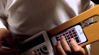 nsx 39 ポケミク ギターを弾いてみた こんにちはブルース pocket miku hatsune miku hardsynth gadget