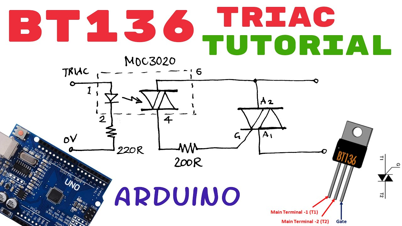 Bt136 Triac Tutorial How To Use Pinout Youtube Diac Phase Power Control Without Hysteresis