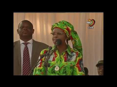 Grace mugabe humiliates VP Mnangagwa