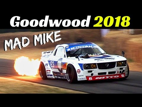 Mad Mike's Madbul Mazda FD3 Quad-Rotor RX7 - 2018 Goodwood Festival of Speed - Epic drift & Flames!