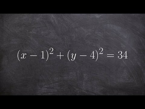 Learn how to graph the equation of a circle when center is not at the origin