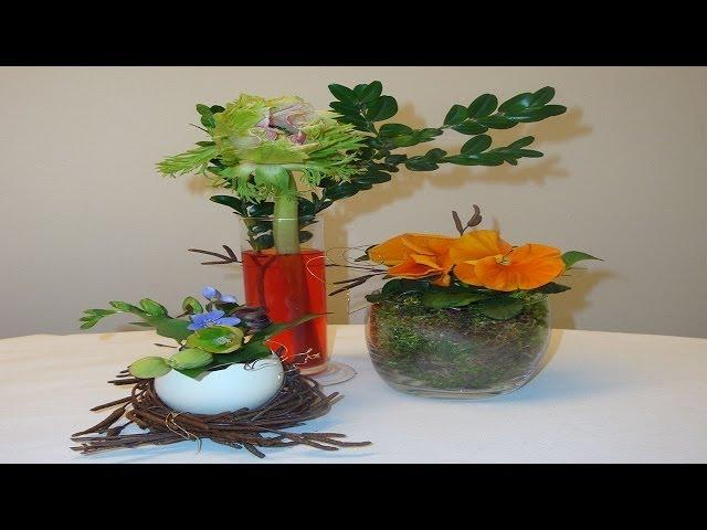 Ostergestecke Mit Moos Und Fruhlingsblumen Dekorieren Flora Shop Eu