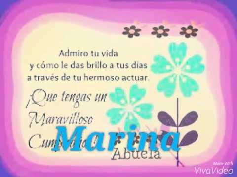 Feliz Cumpleanos Abuela Marina Serna Tkm Youtube