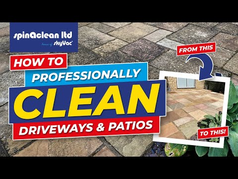 How to Clean Driveways and Patios with your Pressure Washer