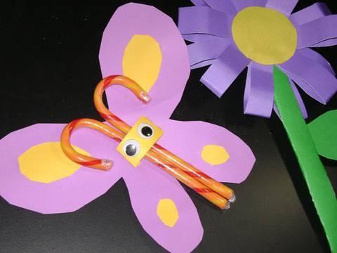 Manualidades de papel dulce mariposa de papel - Papel partitura para manualidades ...