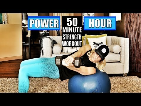 50 Minute Total Body Strength Workout With Weights | Weight Strength Training For Women