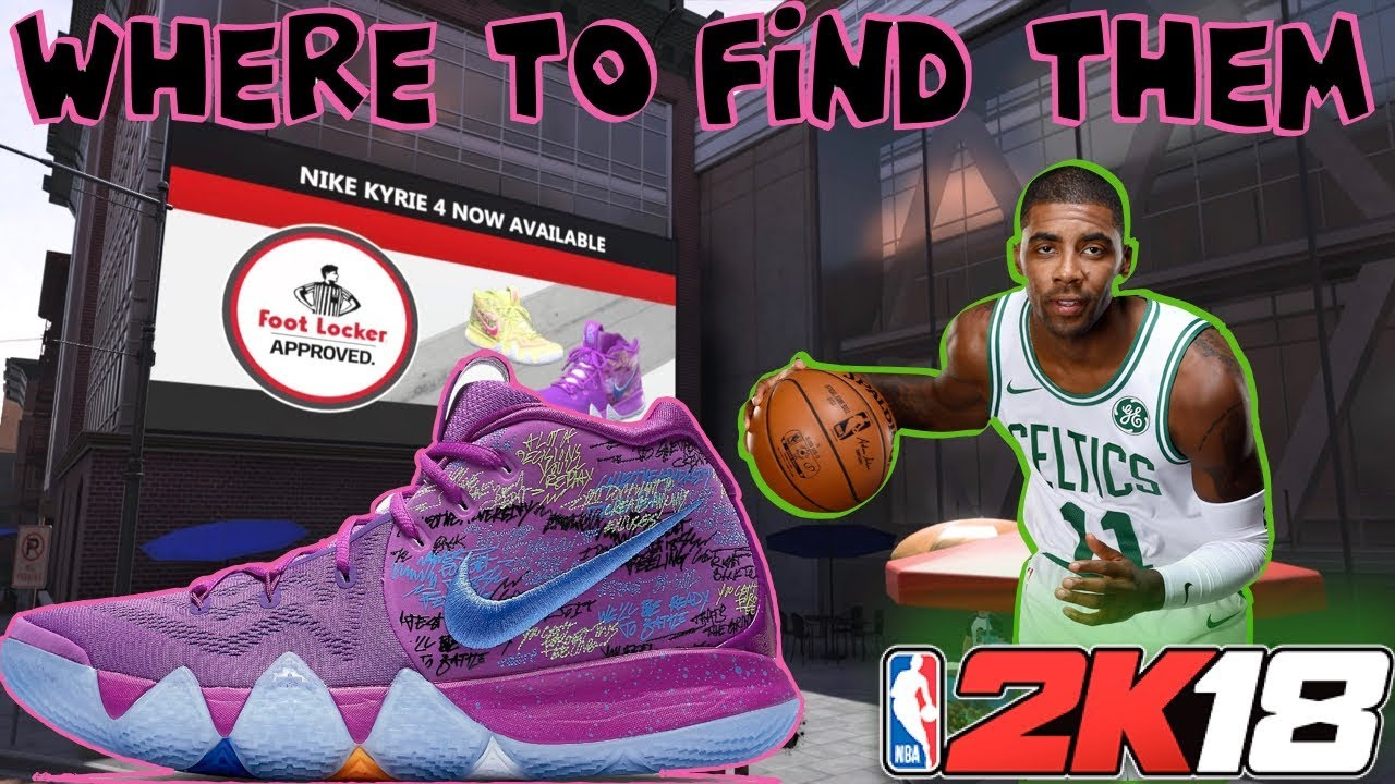 premium selection db0c3 4a2b6 NBA 2K18 | KYRIE 4s RELEASED | WHERE TO GET THEM