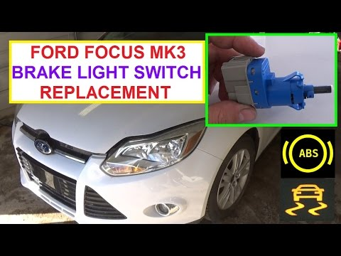 How To Replace The Brake Light Switch On A Ford Focus Mk3 2017 2016