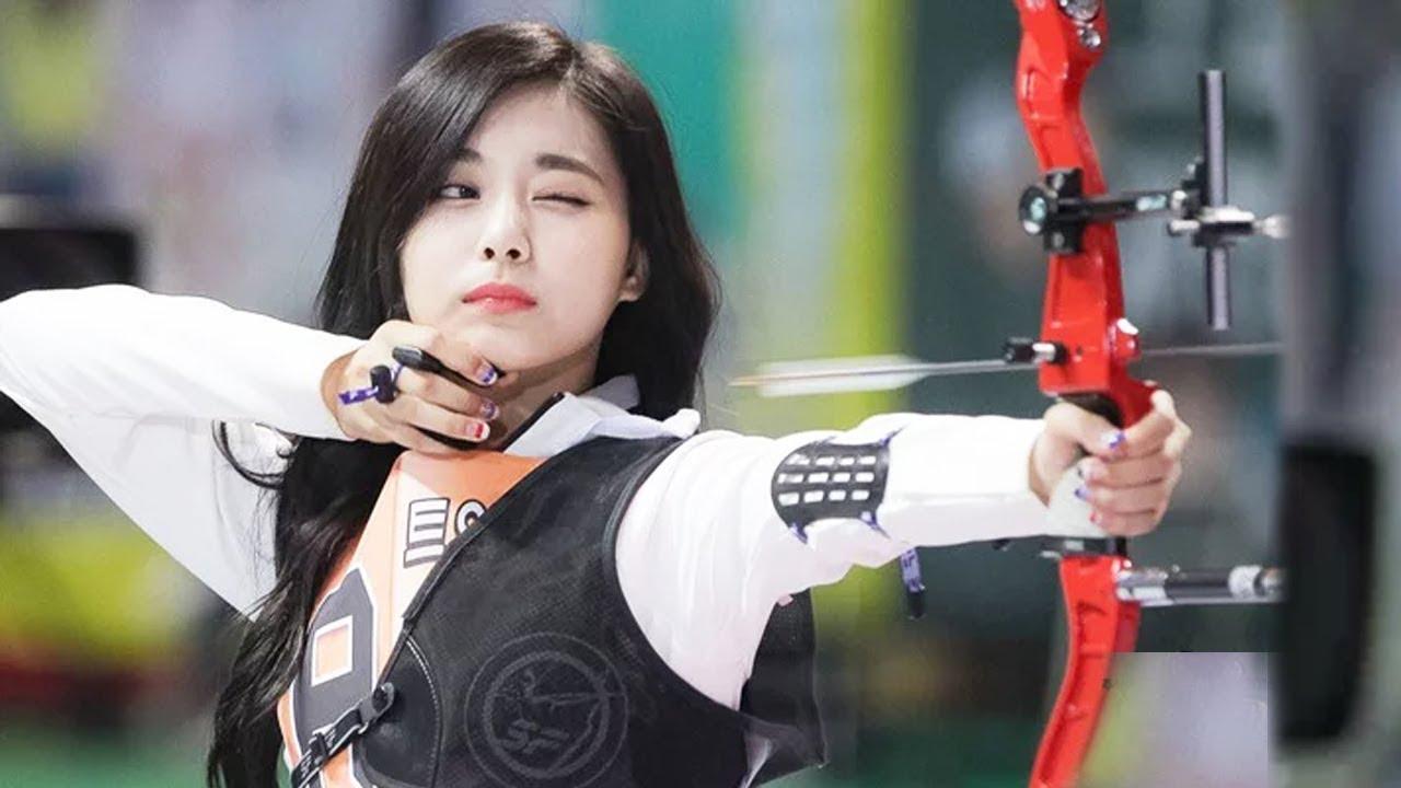 Viral Hair Flip : Tzuyu's Graceful Archery Hair Flip Shot Goes Viral, Watch It Here