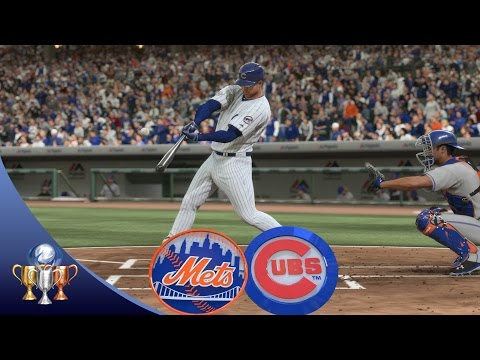 MLB The Show 16 - Mets vs Cubs  (Full Game, Broadcast Presentation)