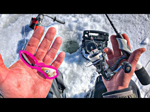 Jigging BIG SPOONS For GIANT Pike!!! (Ice Fishing)