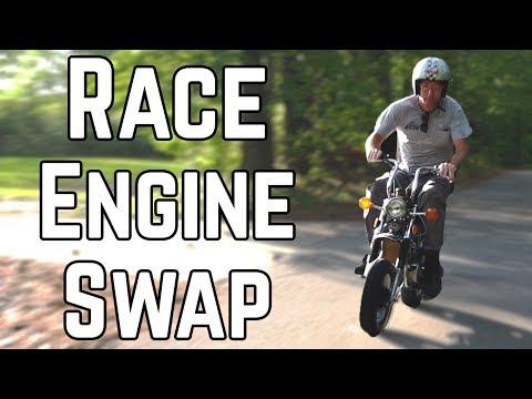 Double Displacement Mini Bike Swap!   Honda CT70 140cc Swap