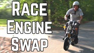 Double Displacement Mini Bike Swap! | Honda CT70 140cc Swap