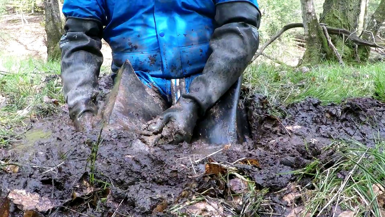 Waders Stuck Deep In Mud 2 Secluded Forrest Bog Youtube