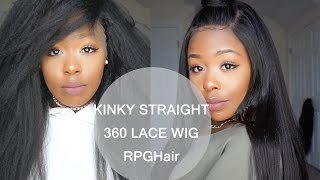 Affordable Kinky Straight Hair 360 Lace Frontal Wig ft. Rpghair.com