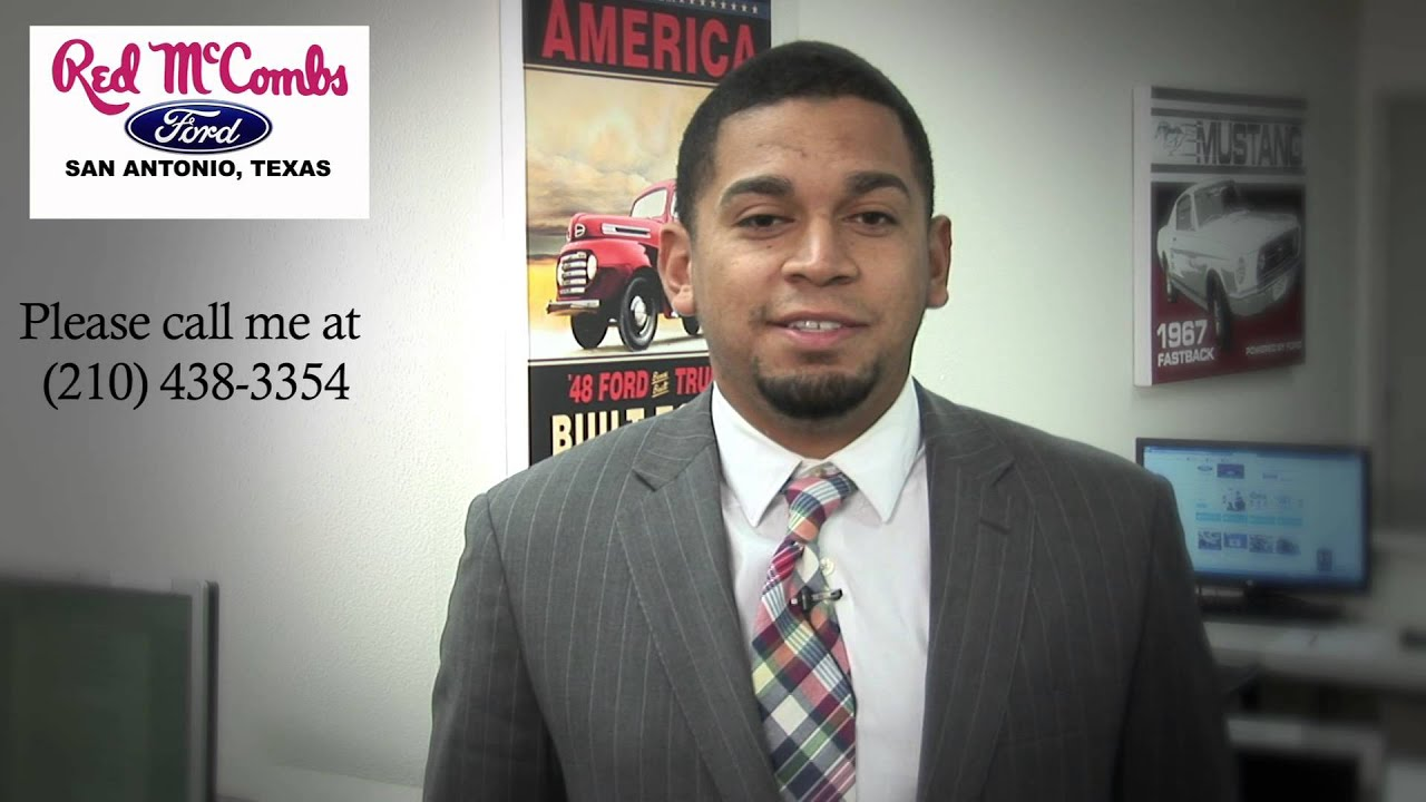 red mccombs ford sales consultant brandon simon - youtube