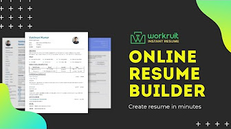 Workruit Instant Resume Create Your Resume For Free Online Resume Builder Software Share Your Resume Download Your Resume Pdf Download Youtube