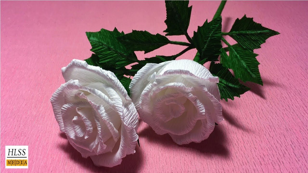 How To Make Beautiful Rose Paper Flower Origami Rose Crepe Paper