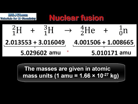 C.7 Calculating energy released in nuclear reactions (HL)
