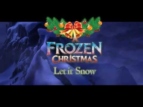"Elsa sings ""Let it snow"" Frozen Christmas"