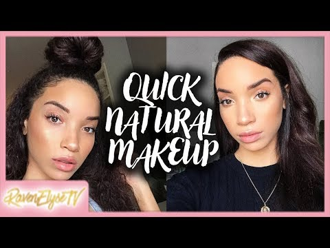 NO FOUNDATION Quick Natural Everyday Makeup! (with Acne Coverage)