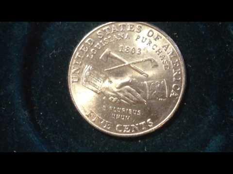 2004 P Louisiana Purchase Nickel (Mintage 361 Million)