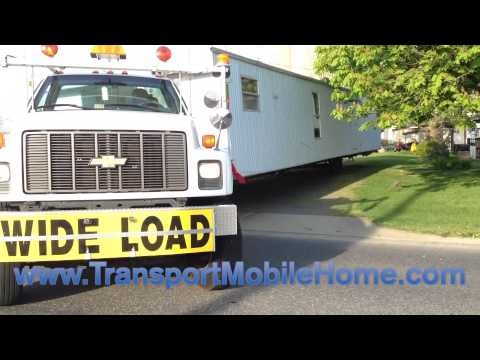 How to move a used mobile home safely down the highway Cost of moving a modular home