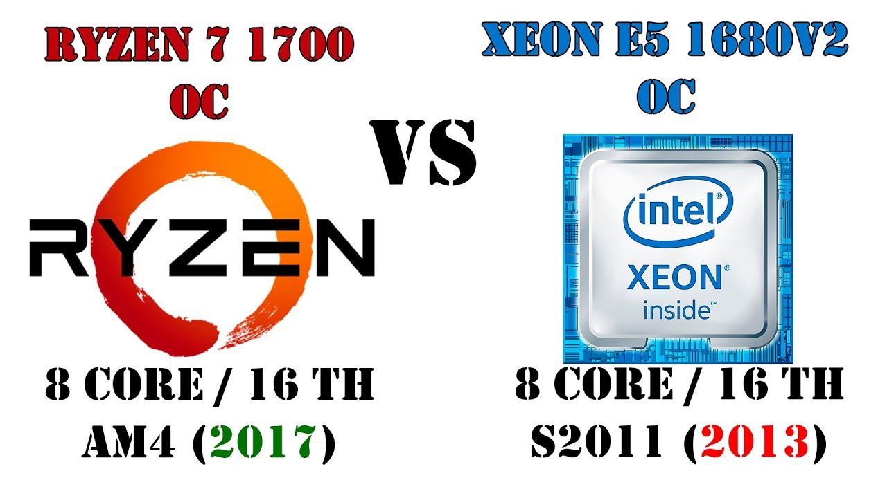 Новый лидер на БУ рынке супер процессоров?! Ryzen 7 1700 vs Xeon E5 1680v2