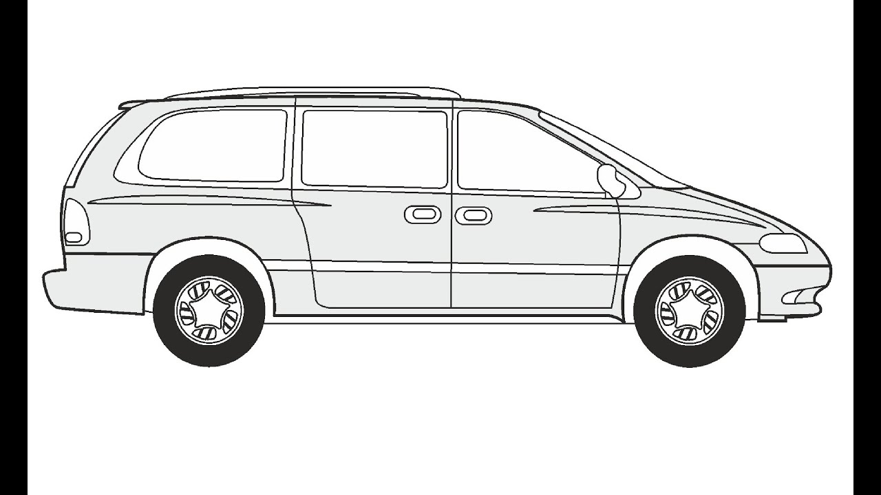 How to Draw a Chrysler Grand Voyager / Как нарисовать