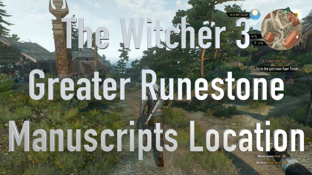 The Witcher 3 Greater Runestone Diagrams Location - YouTube