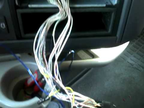 working on a semi truck (18 wheeler) install radio part 1 youtube mack truck bluetooth radio at Mack Truck Radio Wiring Harness