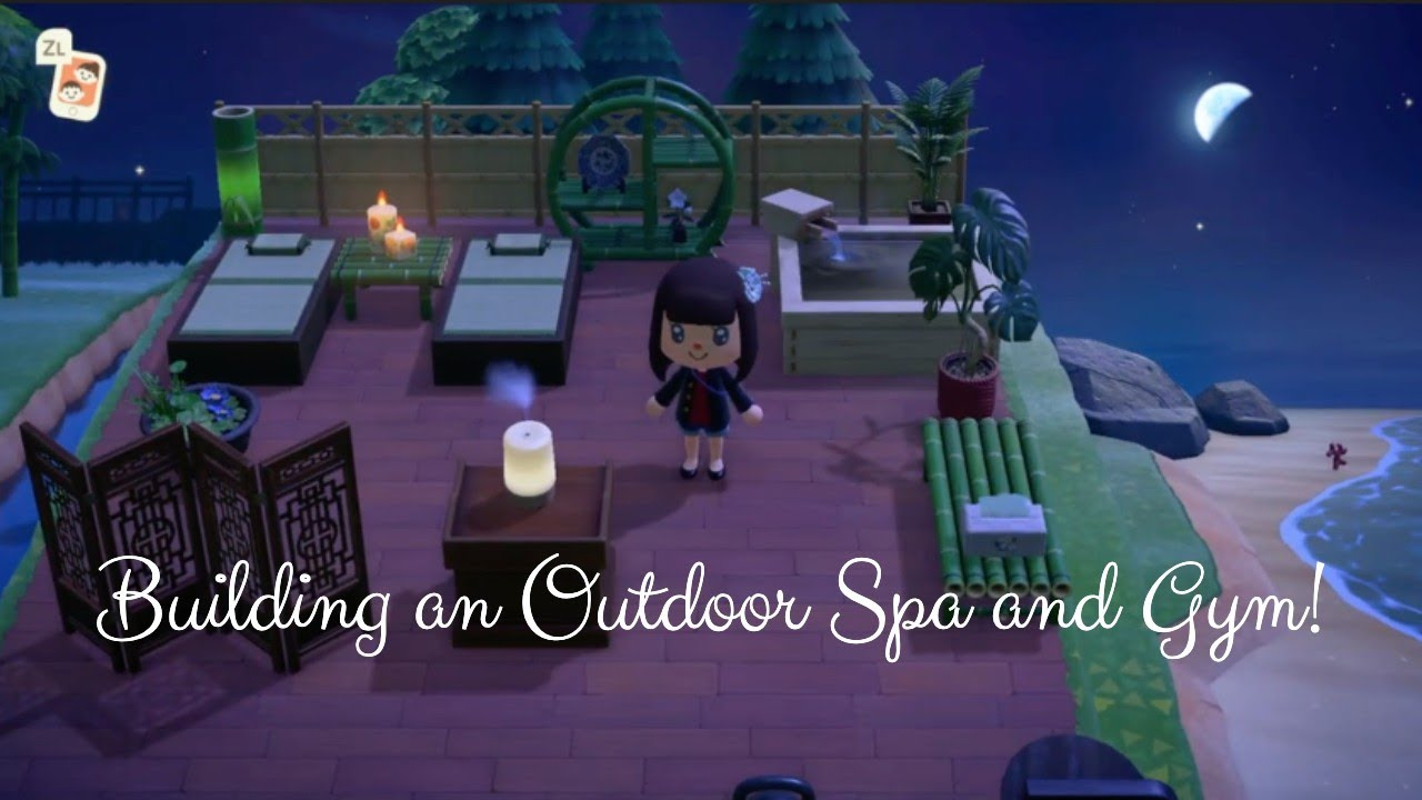 Animal Crossing New Horizons Building A Spa And Outdoor Gym For My Five Star Island Youtube