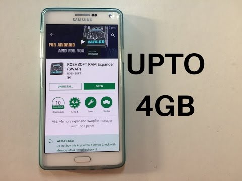 How To Increase RAM On Your Android Upto 4GB