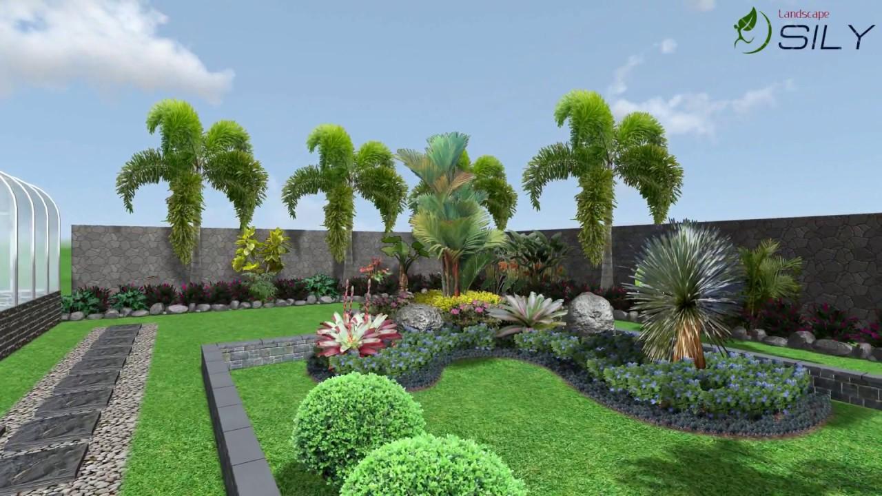 Desain Taman Tropis - YouTube