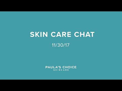 Skincare Chat with Bryan / 11.30.17