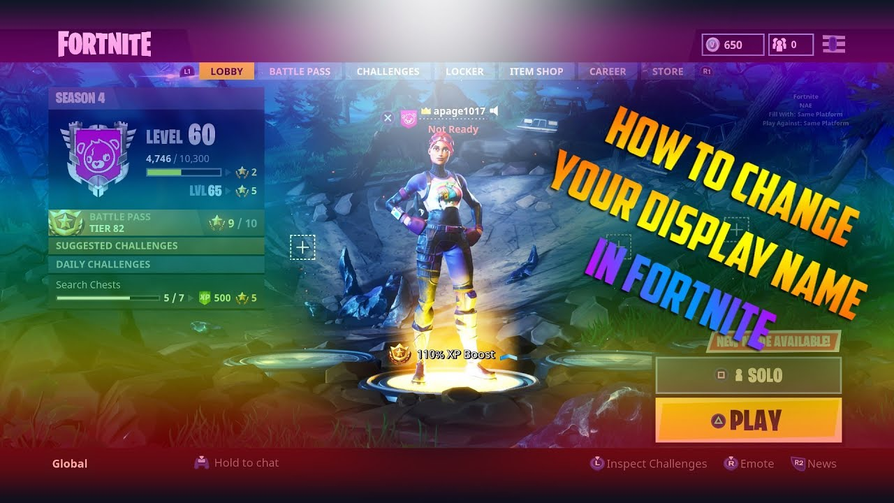 HOW TO CHANGE YOUR FORTNITE DISPLAY NAME FOR *FREE* PS4 ...