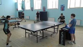Районный чемпионат по настольному теннису в Сарманово Финал