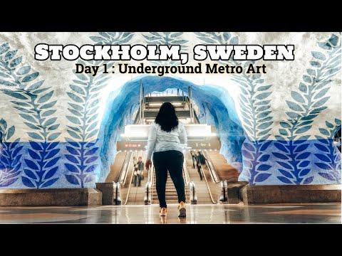 Stockholm, Sweden - Day 1: Metro Art // Solo Europe Adventure