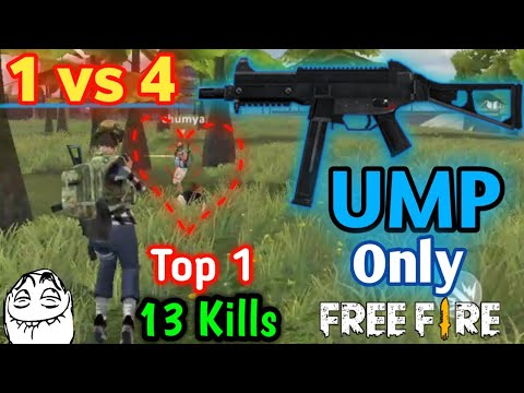 [Garena Free Fire] Chỉ dùng UMP Solo vs Squad Top 1 | StarBoyVN