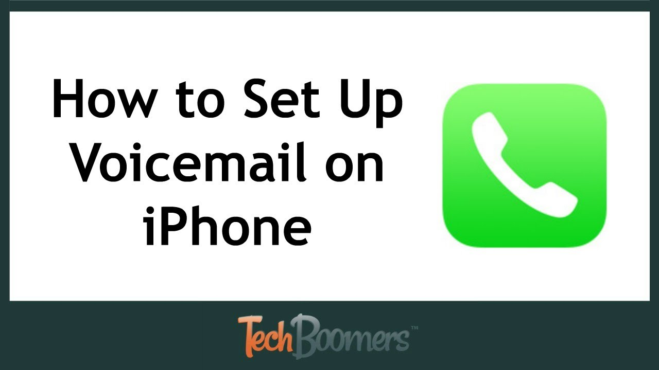 How To Set Up Activate Voicemail On Iphone Youtube