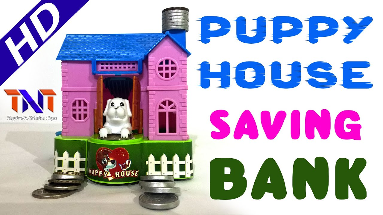 Dog House Puppy Bank Robotic Dog Puppy Hungry Hound Bank Coins