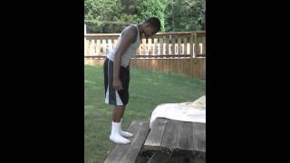 how to do a back flip off a bench