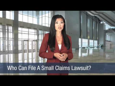 Who Can File A Small Claims Lawsuit?