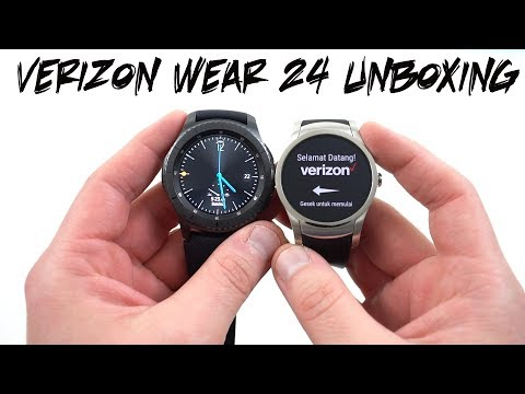 Verizon Wear 24 Android Wear Watch Unboxing/Size Comparisons