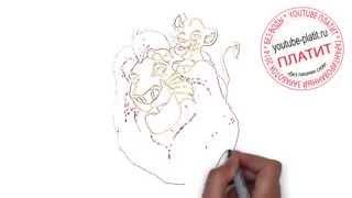 Мультфильм король лев смотреть  Как легко нарисовать короля льва Симбу карандашом(Король лев мультфильм. Как правильно нарисовать короля льва онлайн поэтапно. На самом деле легко и просто..., 2014-09-18T15:10:34.000Z)