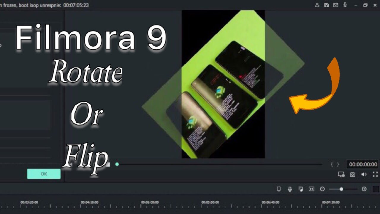Filmora 9 How To Rotate Or Flip Video Photos Perfectly Youtube