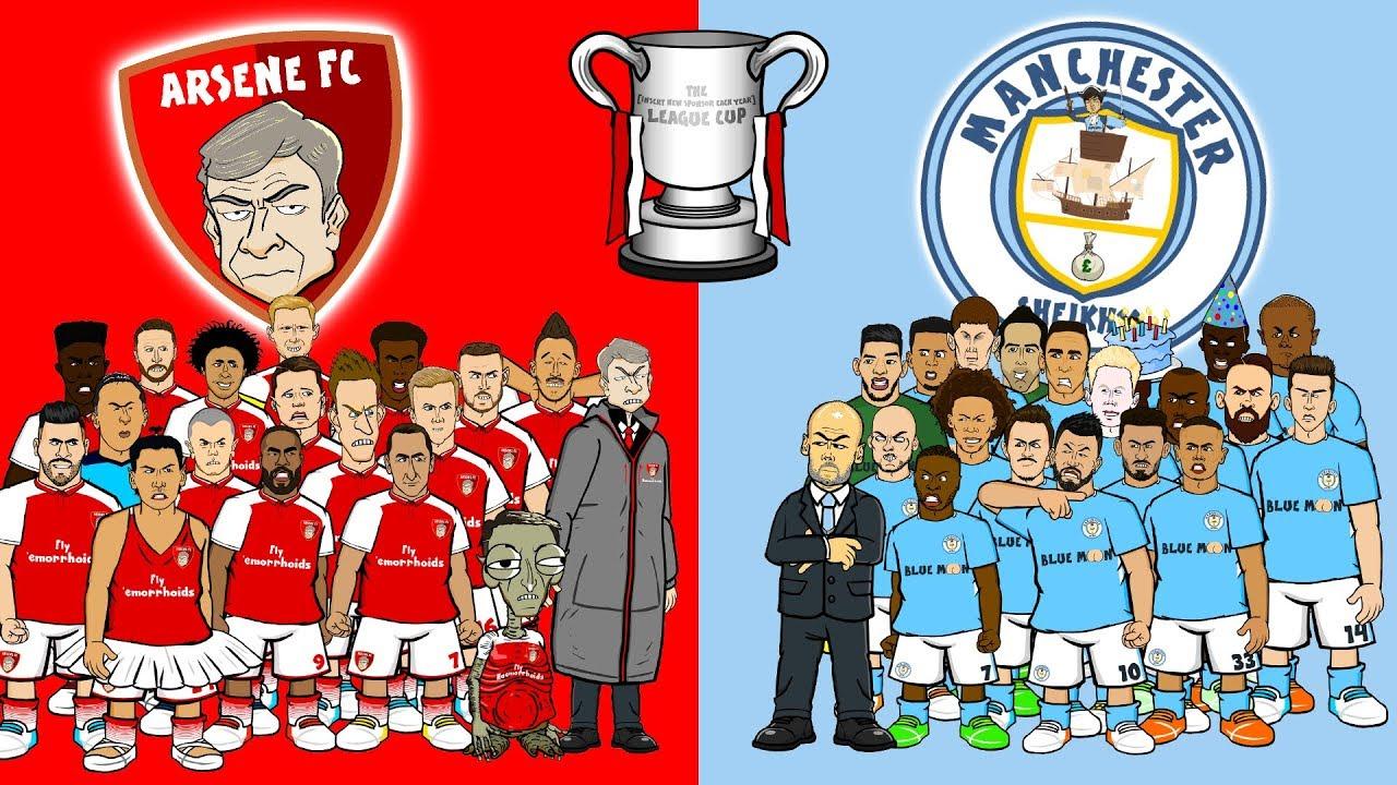 🏆ARSENAL vs MAN CITY - the FINAL!🏆 (Carabao Cup League Final Preview 2018) #1