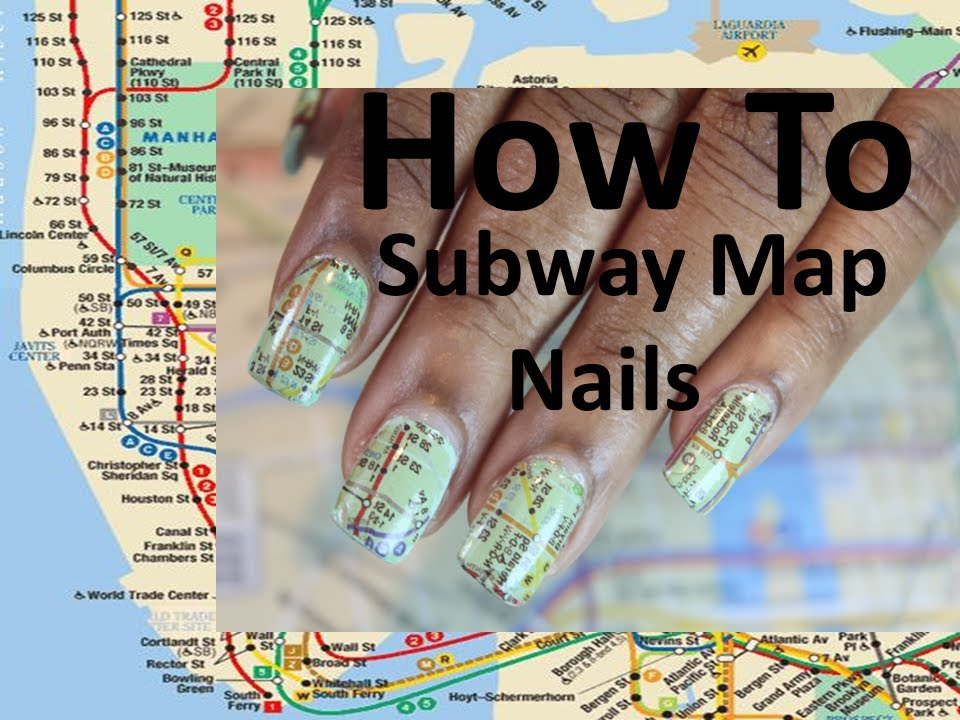 Nail art nyc subway map dearnatural62 youtube gumiabroncs Images