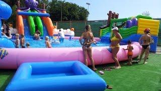 видео Надувные аквапарки