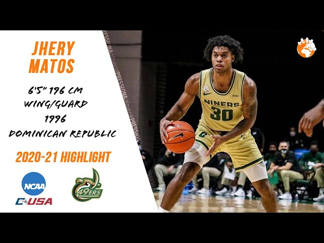 Jhery Matos 2020-21 NCAA Charlotte Extended Highlights